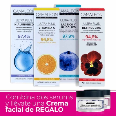 2 SERUMS + REGALO Crema facial